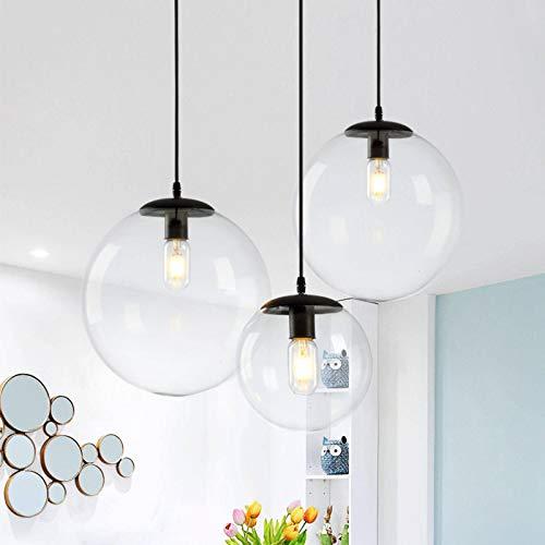 N-B Lámpara de Restaurante nórdica Bar, Minimalista Moderno, Personalidad de una Sola Cabeza, Burbuja Creativa, Tienda de Ropa, Ventana, lámpara de Bola de Cristal