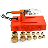 20-63mm Plastic Water Pipe Welder PP/PP-R/PE/PP-C Pipe Welding Machine Tool Pipeline Construction Equipment with Digital Readout (220V+Voltage converter)