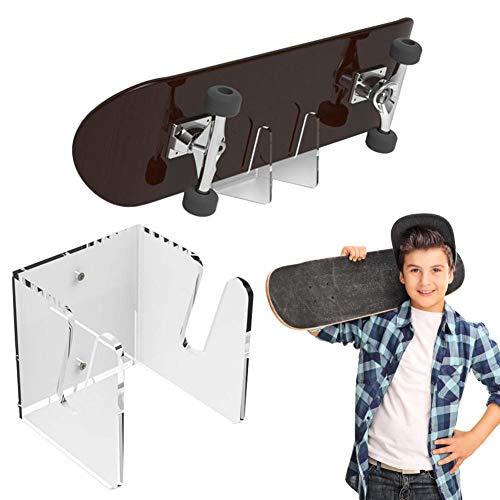 Hifuture Skateboard Wandhalter Display Rack Wandhalterung Acryl Ständer Unsichtbarer Regalständer Transparenter Halter Standard Lagerregal Mount Shelf Für Longboards Pennyboard Heimgebrauch Geschäft