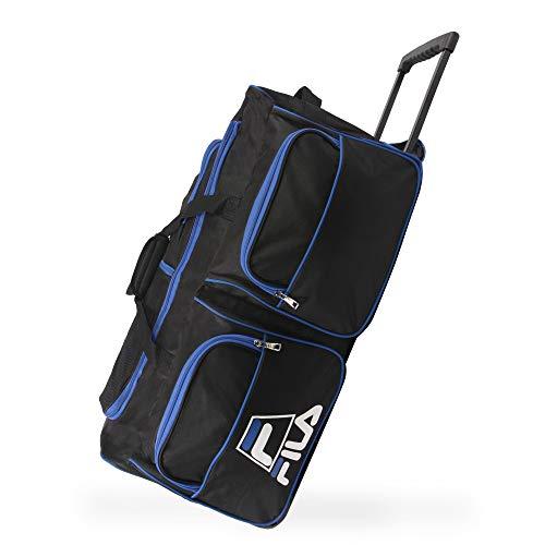 Fila 30' 8-Pocket Rolling Duffel, Black/Blue, One Size