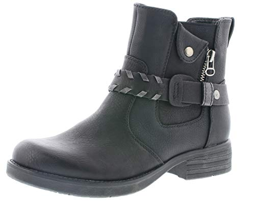 Rieker Damen Stiefeletten 91258, Frauen Biker Boots, Winterstiefelette Frauen weibliche Lady Ladies,schwarz,37 EU / 4 UK