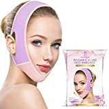 PHILOFACE 2 Packs Reusable V Line Face Lift Mask, Facial Slimming Strap, Double Chin Reducer, Chin Up Mask, Face Lifting Belt, V Shaped Slimming Face Mask