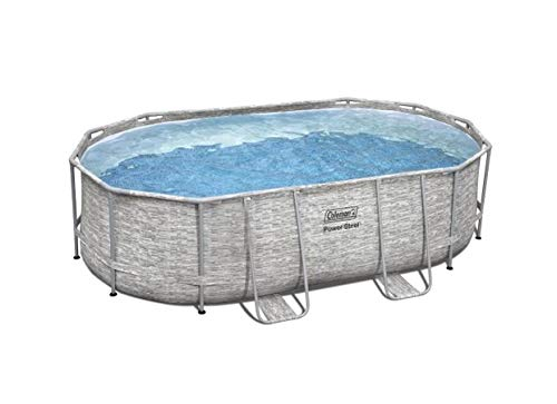 Bestway 16ft x 10ft x 42in Oval Power Steel Above Ground Swimming Pool Set