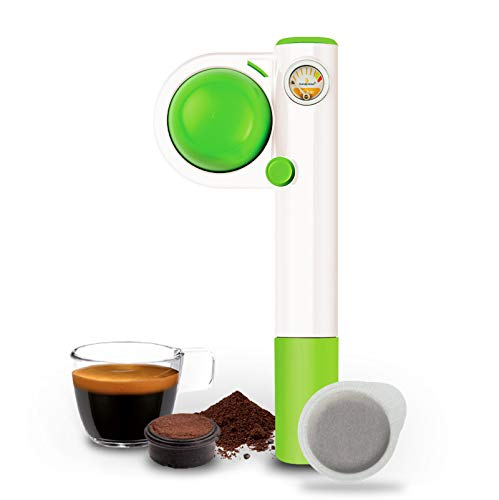Handpresso Pump Pop for ESE Pods and Ground Coffee, Green