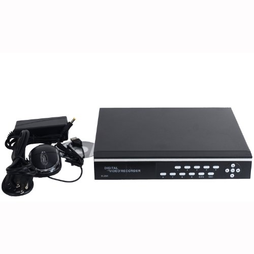 VideoSecu CCTV 4 Channel Video Audio H.264 Security Surveillance DVR Network Embedded Real Time Digital Video Recorder System Support Remote View iPhone Google Phone Build-in 1500GB (1.5TB) SATA Hard Drive 1YT