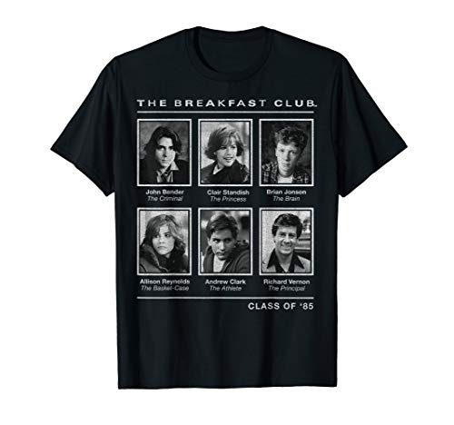 Breakfast Club Year Book Club Photos Graphic T-Shirt for Adults, Kids, up to 3XL