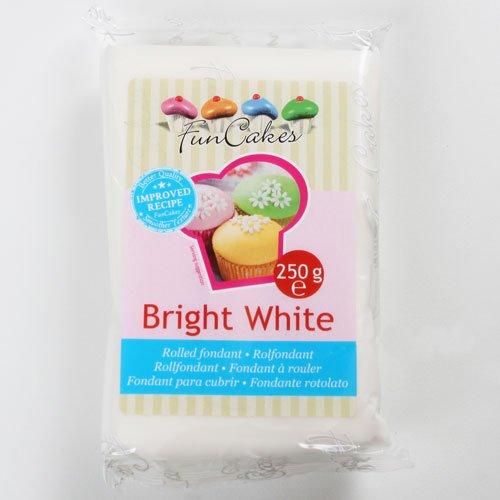 Funcakes Rollfondant in vielen verschiedenen Farben -250g- (Bright White Vanilla)