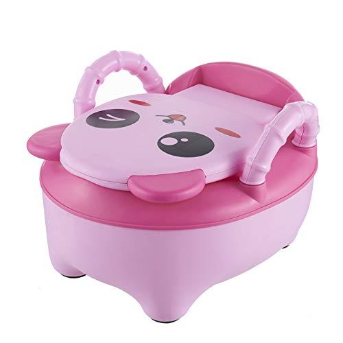 QIANGUANG® Kinder WC Sitz Baby Kleinkind Trainer Töpfchen WC-Sitz (Rosa Neu)