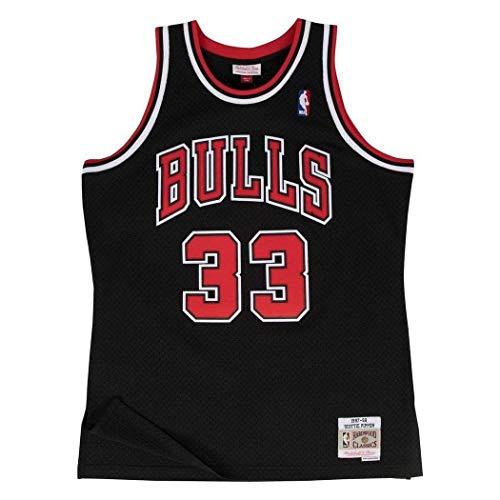 Mitchell & Ness Scottie Pippen #33 Chicago Bulls 1997-98 Swingman NBA Trikot SCHWARZ, L