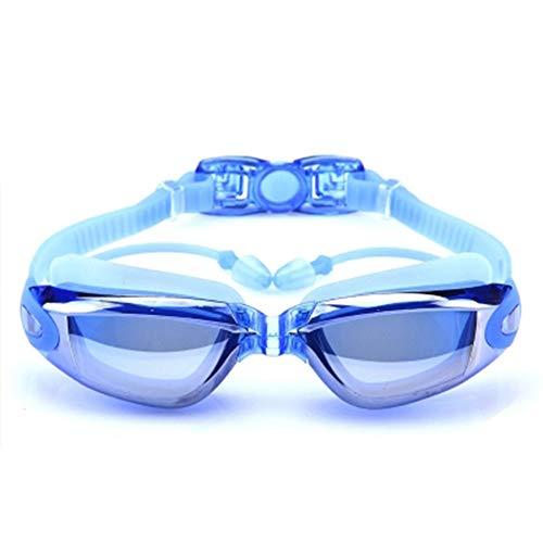 HD Wasserdicht und Anti-Beschlag Schwimmbrille Ausrüstung Unisex großen Rahmen mit Ohrstöpsel Brille