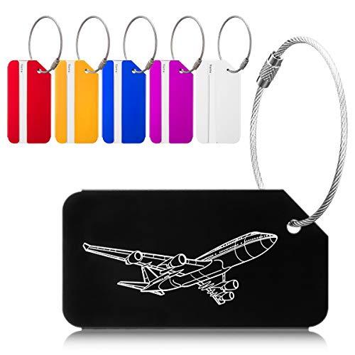 Etiquetas Maletas Viaje Luggage IDTag para Maletas Equipaje Mochilas Bolso, 6 Colores