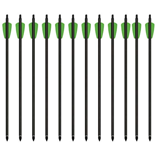 Cold Steel Cheap Shot 130 Carbon Crossbow Bolts, 15-inch Length, 175-grain, Pack of 12
