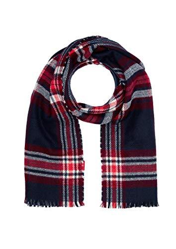 s.Oliver Damen 39.910.91.4951 Schal, Blau (Blue Check 59n2), One Size (Herstellergröße: 1)
