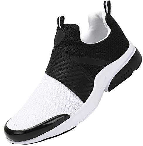 Mishansha Zapatos de Running para Hombre Mujer Comodos Respirable Caminar Fitness Zapatillas Unisexo Adulto Antideslizantes Bajo Superior Sneakers Ultraligero Zapato Casuales, Blanco 39
