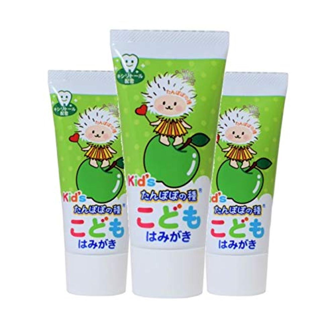 劣る世紀行うたんぽぽの種 こどもはみがき 子供用歯磨き粉 こども用歯磨き粉 子供用ハミガキ (3本)