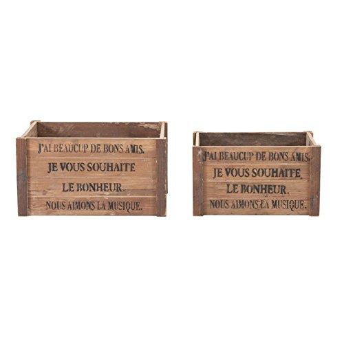 LastDeco Caja J/2' Grasse, Resina, Natural, 2 Unidades