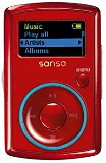 Sandisk SDMX11N-2048R-E70 MP3 Player Sansa Clip 2GB Red