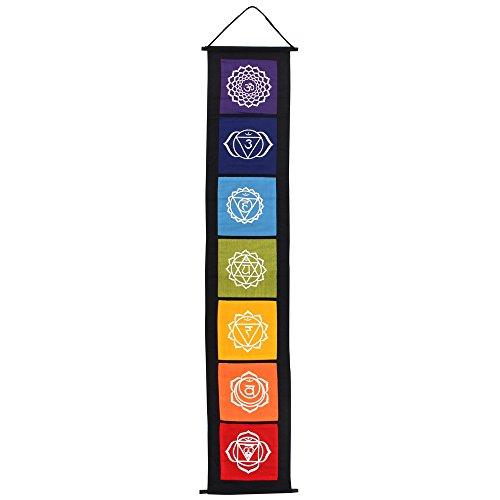 something different Colorido Chakra símbolo Colgante Tela Banner