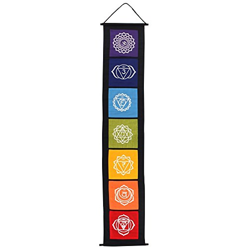 Something Different – Chakra-Symbol-Banner, Stoff, mehrfarbig, 29 x 0,2 x 154 cm