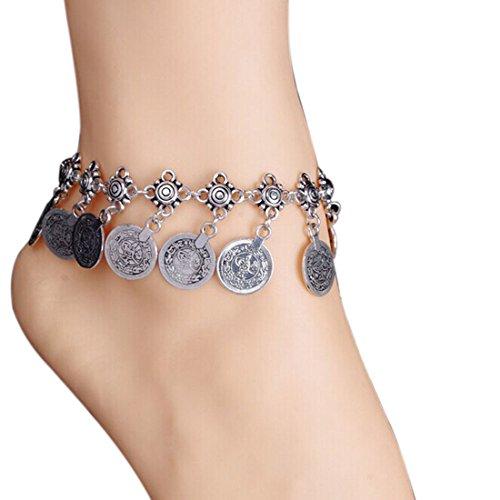 Meily Tribal Ethnic Coin Tassel Gypsy Festival Turkish Beach Anklet