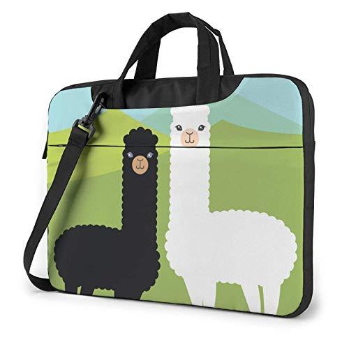 Alpaca Laptop Bag Messenger Bag Briefcase Satchel Shoulder Crossbody Sling Working Bag 14 Inch