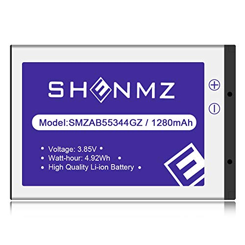 Samsung AB553446GZ/AB553446GZB/AB553446GZBSTD (Upgraded) 1280mAh Li-ion Replacement Battery for Samsung U310 U340 U350 U410 U430 Verizon Wireless Flip Phone [3 Years Warranty]