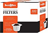 Party Bargains 300 Disposable K-Cup Paper Coffee Filters - White Disposable Coffee Filter for Keurig Single Serve, Perfect Size and Quantity