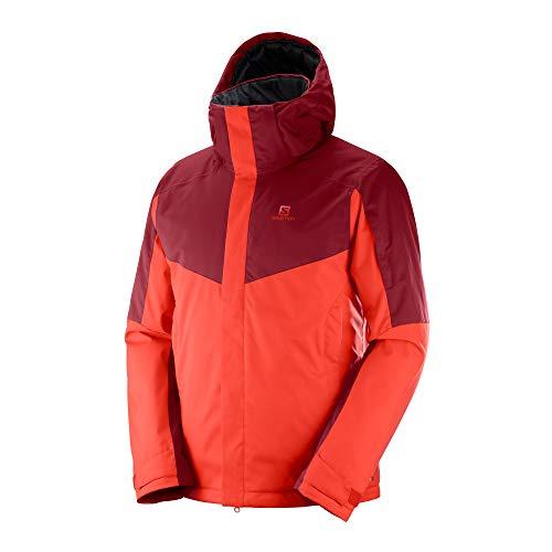 SALOMON(サロモン) スキーウエア メンズ ジャケット STORMSEEKER JACKET M (ストームシェーカー ジャケット M) LC1006500 FIERY RED/BIKING RED/S
