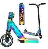 Invert TS2+Y Stunt-Scooter H=83cm oilslick Regenbogen Rainbow neochrome + Fantic26 Sticker