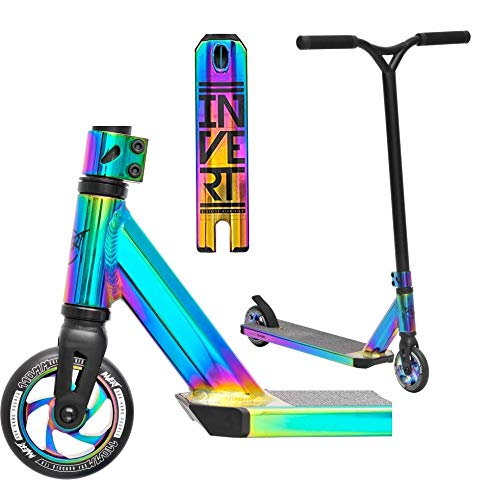 Invert TS2+Y Stunt Scooter H = 83 cm oilslick arcoíris + pegatina Fantic26