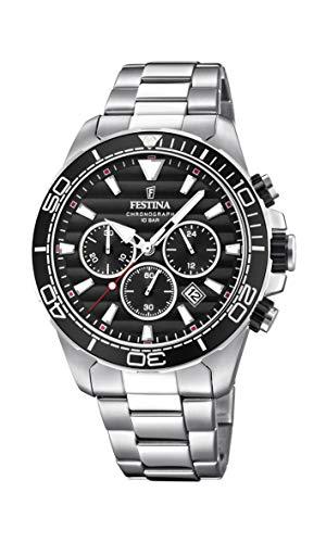 Festina Herren Chronograph Quarz Uhr mit Edelstahl Armband F20361/4