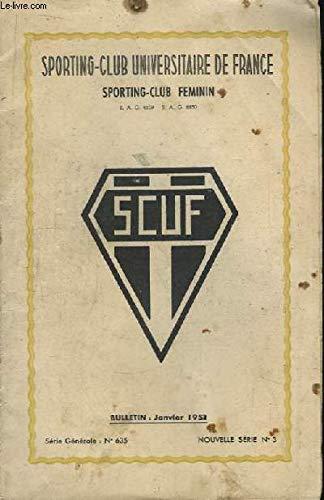 Bulletin du SCUF, Janvier 1951. Sporting-Club Féminin