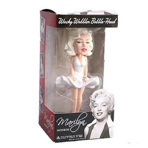hotrodspirit – Figur Marilyn Monroe in weißem Kleid Bobble Head mit beweglichem Kopf