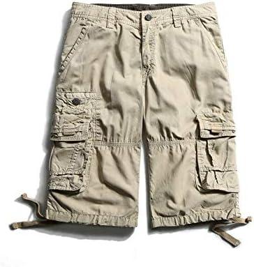 JiuRui Leisure Shorts New Camouflage Men Camo Cargo Shorts Mens Casual Shorts Male Loose Work Shorts Military Overalls (Color : Khaki, Size : 34)