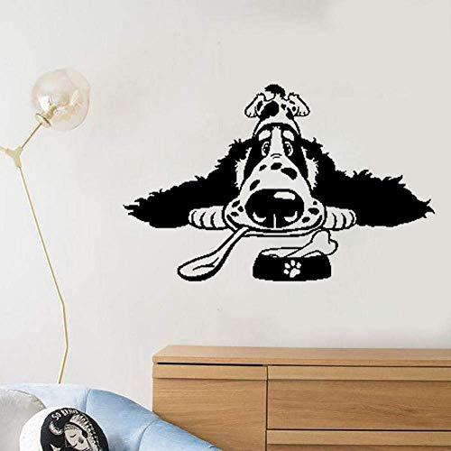 Wandaufkleber Cartoon Spaniel Rasse Hundefutter PVC Home Art Aufkleber PVC Wandaufkleber 60X38Cm