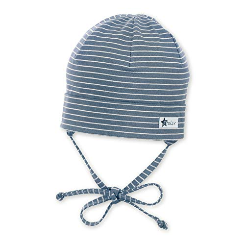 Sterntaler Beanie Hat with Turn Up Bonnet, Bleu (Samtblau 399), XXXX-Large (Taille Fabricant: 49) Mixte bébé