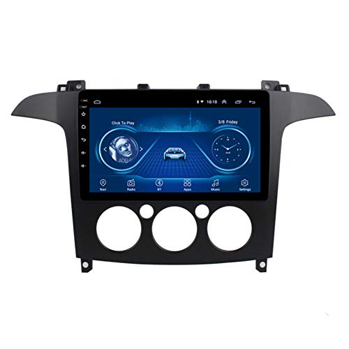 Car stereo Android 9.1 Cuatro núcleos Coche Autoradio GPS Navegación para Ford S-MAX 2007-2008 | 9 pulgada | Pantalla LCD Táctil | USB | WLAN | 4.0 Bluetooth (Color:Ocho núcleos,Size:WIFI 2+32G)