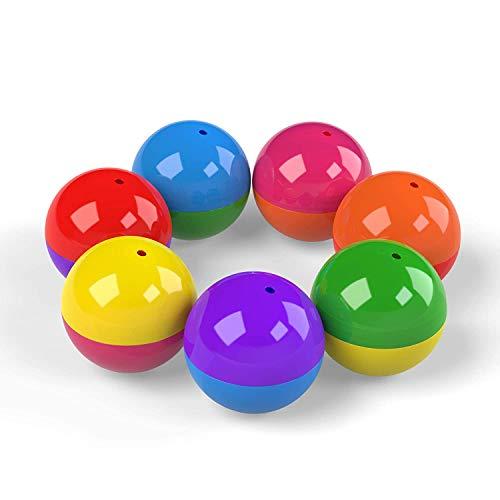 Tom färgad rund 5 cm kapslar 50 mm – kapselbehållare i plast för leksak gummi för barn festgåvor 500 st