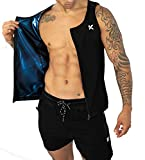 Kewlioo Men's Heat Trapping Zipper Sweat Enhancing Vest (Black, L/XL)
