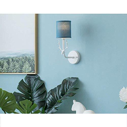 Wlylyhjy Nachtwandleuchte, Wandleuchte Schlafzimmer Nacht LED Wandleuchte Nordic Kreative Rotwild-Kopf Moderne Minimalist Lampe Gehweg Kinderwandleuchte