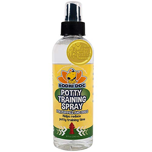 Bodhi Dog Potty Training Spray | Indoor Outdoor Potty Here Training Aid for Dogs amp Puppies | Puppy Potty Training for Potty Pads | Made in USA | 8oz