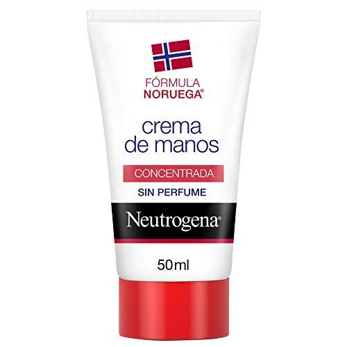 Neutrogena Crema de Manos Concentrada Sin Perfume, Alivio Inmediato para Manos Secas, 50 ml