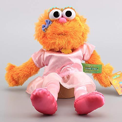 xuekun Anime Barrio Sésamo Muñecos De Peluche Pink Girl Zoe Felpa Marioneta De Mano Muñecos De Peluche Suaves 35 Cm, Muñecos Educativos para Bebés