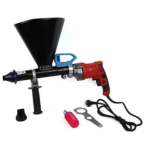 ROMYIX Pistolet à calfeutrer électrique 220V 700W, Machine d'application de jointoiement avec 2 buses (20mm plat et 26mm rond), outil de jointoiement électrique
