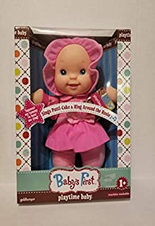 Plush Baby First Playtime Baby Doll Soft Body for Kids  Sings Patti-Cake and Ring Around The Rosie