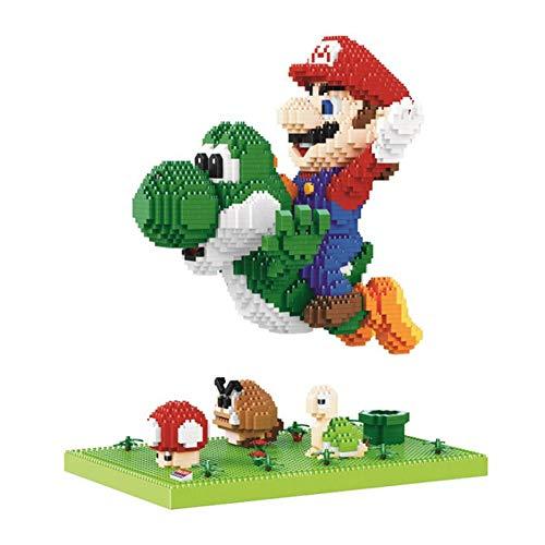 LNLJ 3300Pcs Mini Mattoni Modello Fumetto Edifici Giocattoli, Fly Mario Yoshi Figura Block, Collezione Regalo Bambini