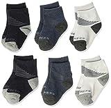 Skechers Kids Skechers Baby 6 Pack Anklet Socks, Blue/Grey, 0-12M