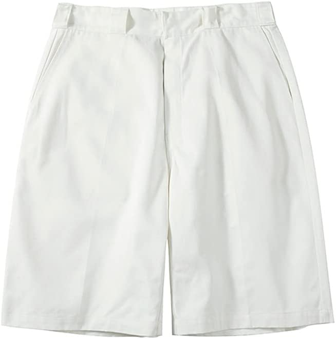 Men's Loose Straight Leg Cargo Shorts with Pockets Comfortable Summer Shorts Comfortable (Color : White, Size : S)