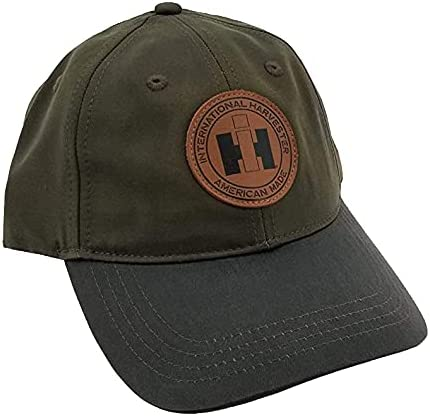 IH Canvas & Oil Cloth Leather Patch Hat/Cap - A2646 Brown