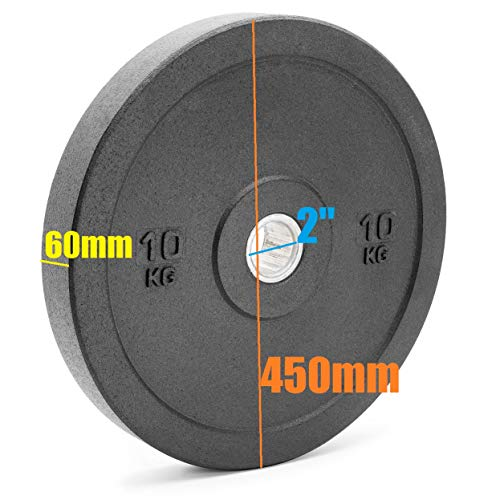 x-trade Bumper Weight Plate Black Olympic Size Rubber Crumb 10kg Gym
